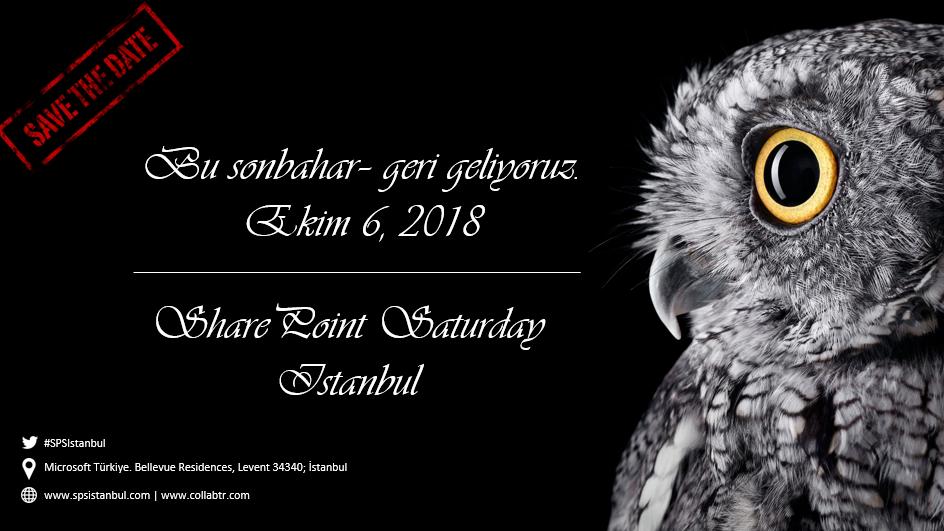 SharePoint Saturday İstanbul 2018 Konuşmacılarını Arıyor